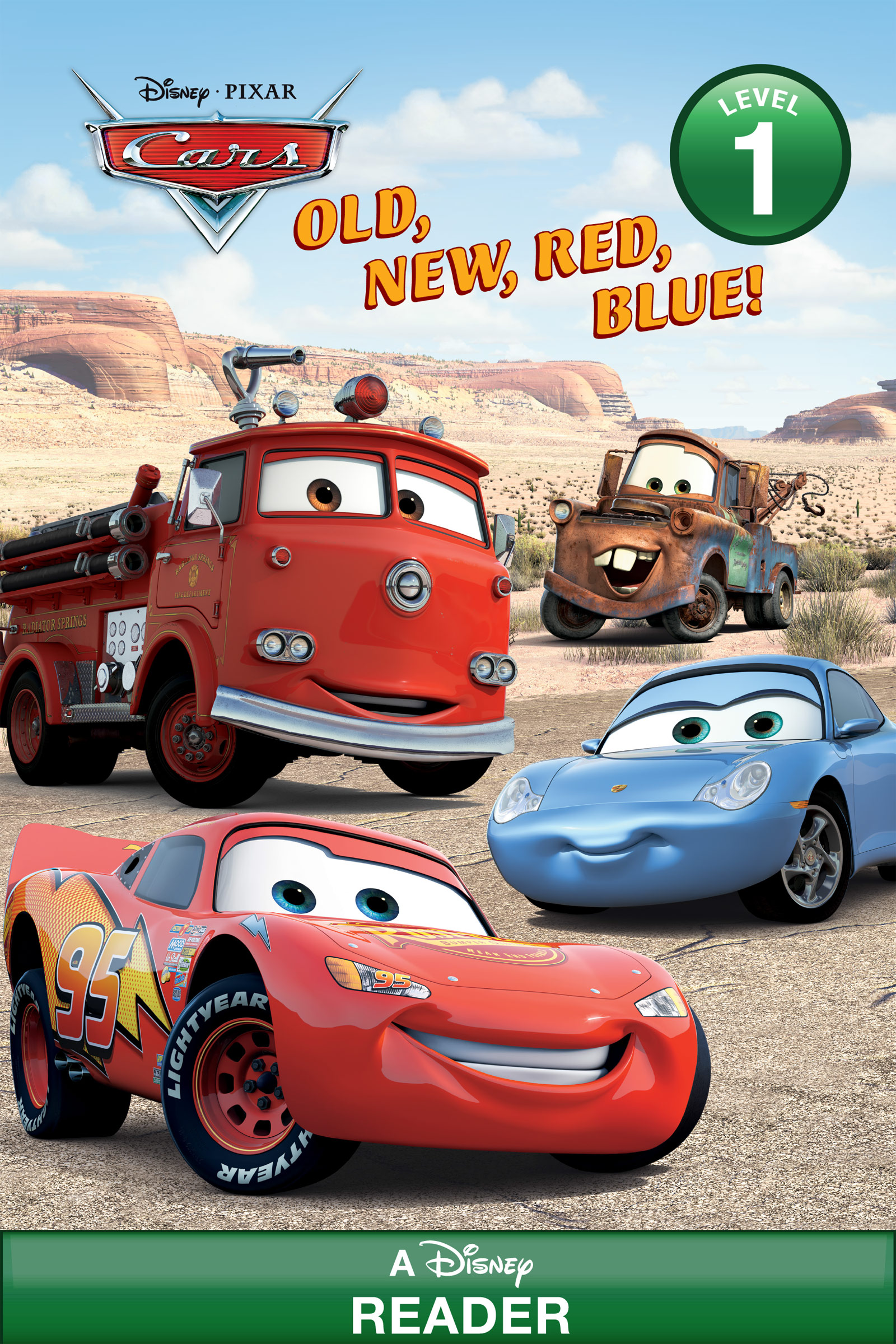 Cars: Old, New, Red, Blue A Disney Reader (Level 1)