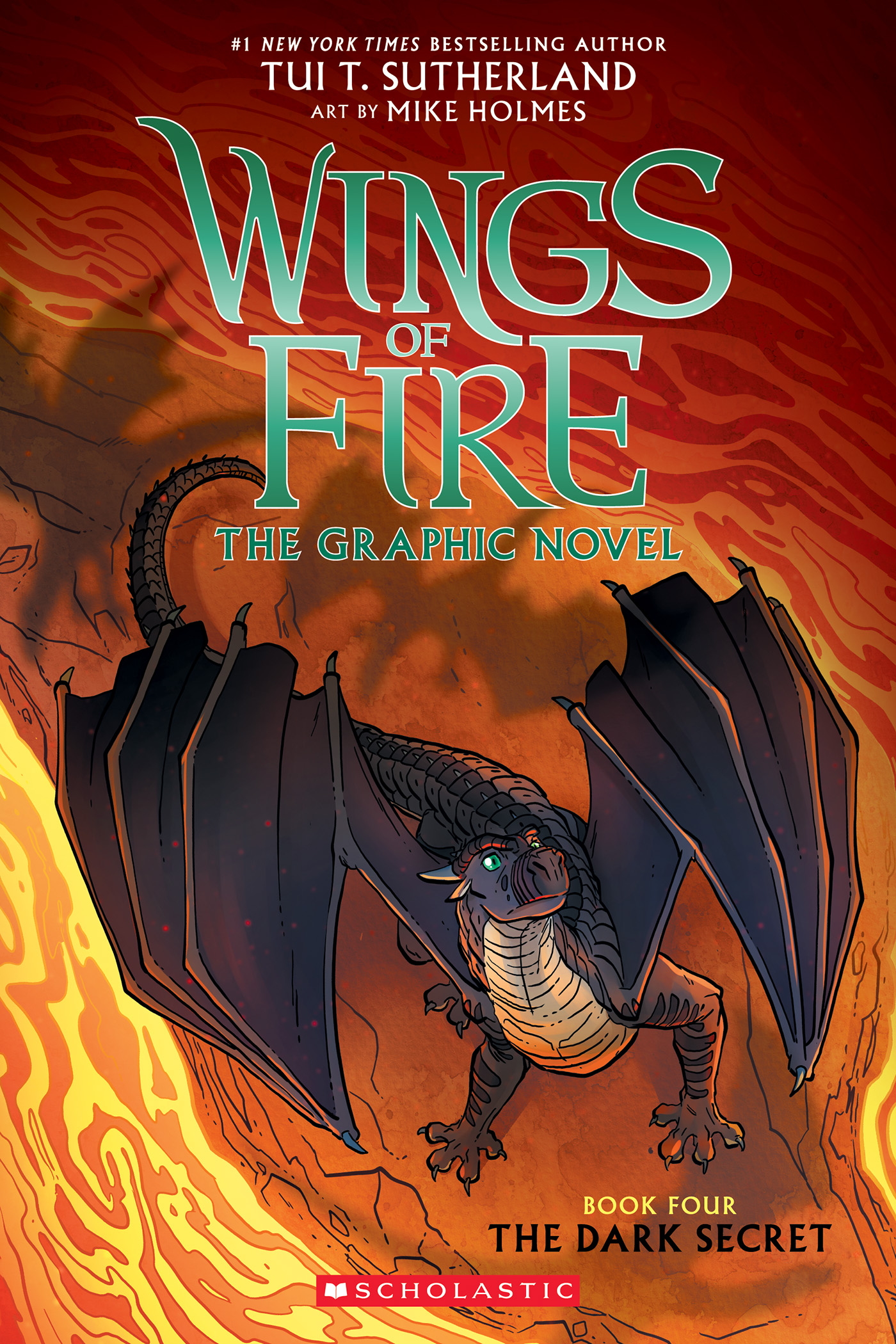 Cover Image of The Dark Secret (Wings of Fire Graphic Novel #4): A Graphix Book