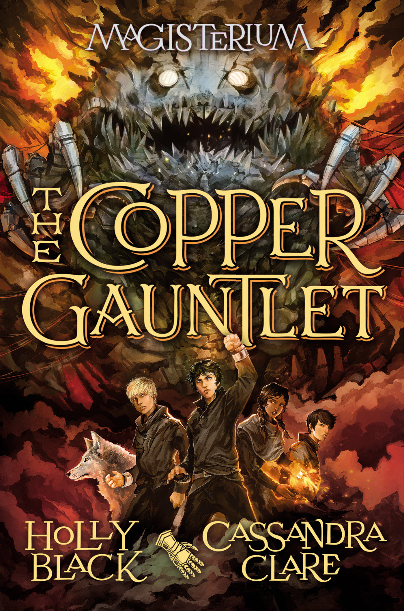 Cover Image of The Copper Gauntlet (Magisterium #2)