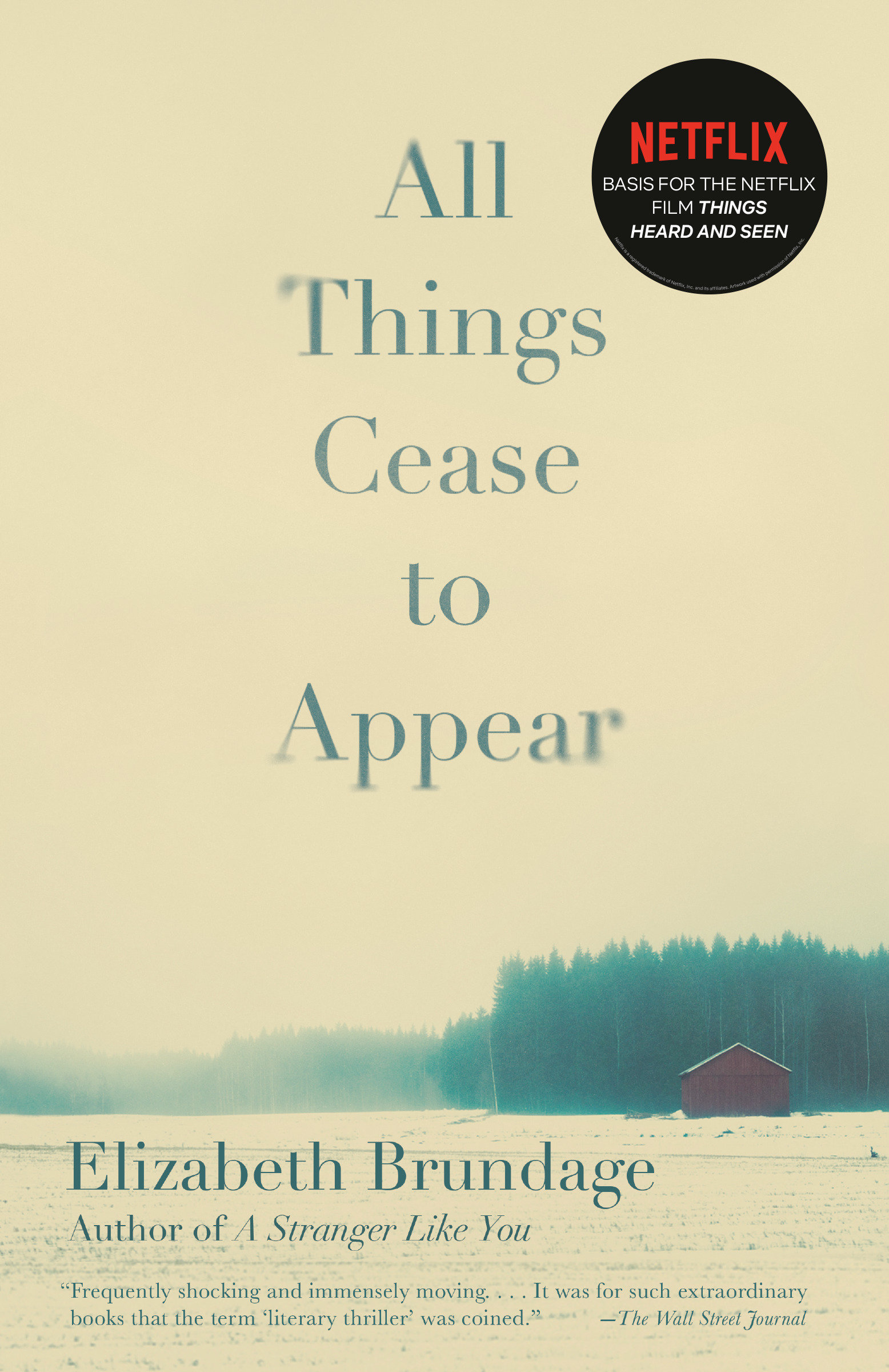 All Things Cease to Appear A novel