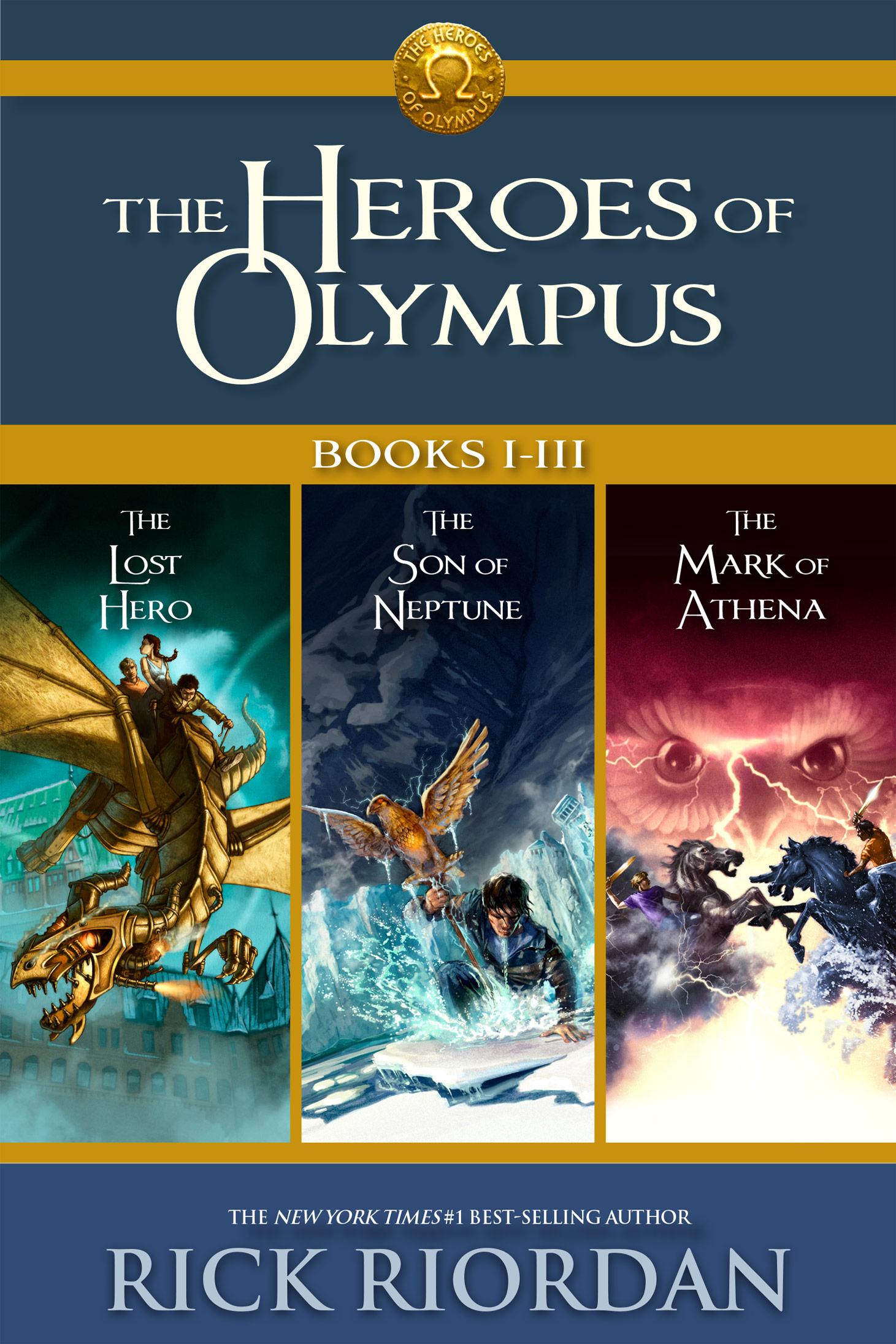 Cover Image of Heroes of Olympus: Books I-III