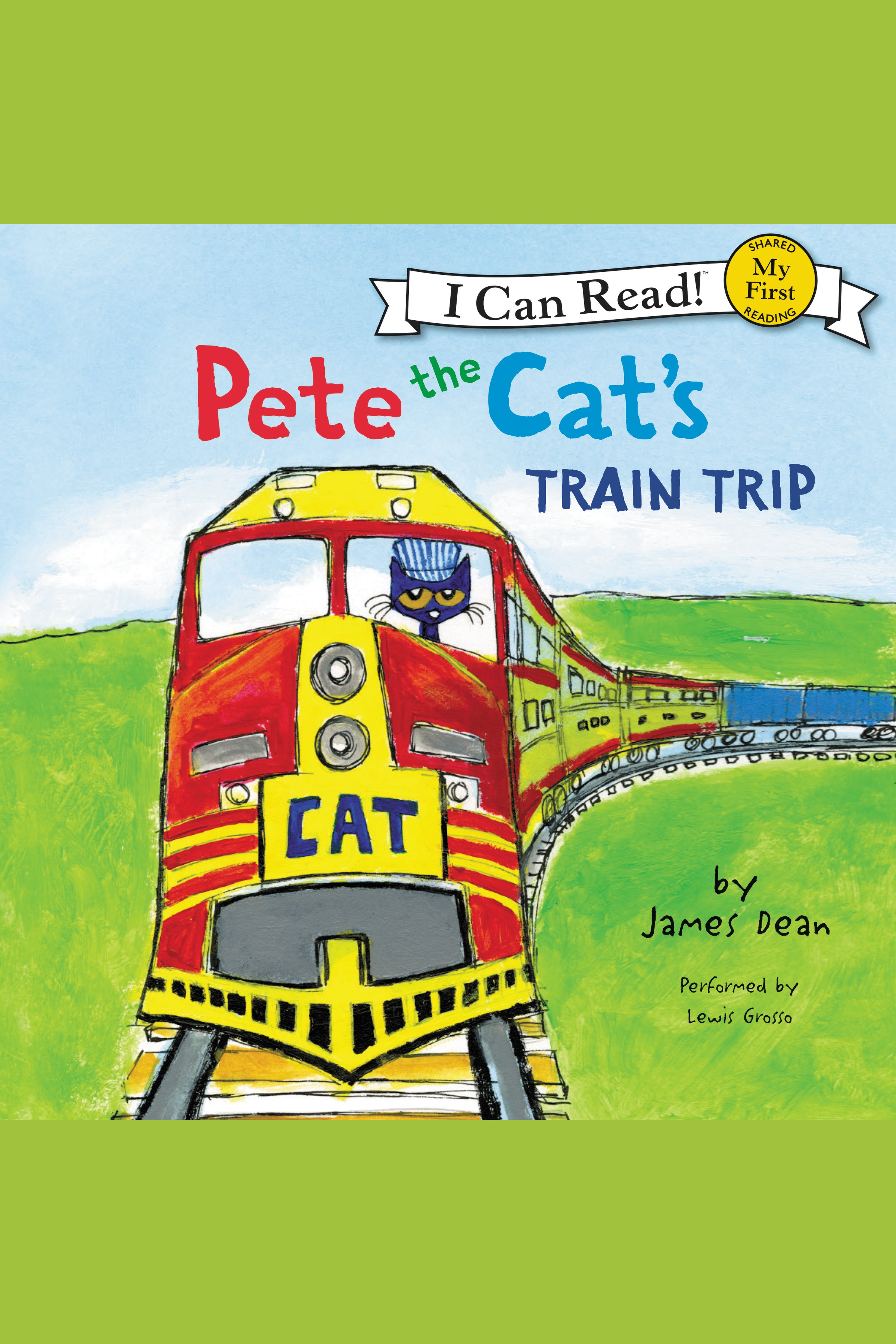 Pete the Cat's train trip cover image