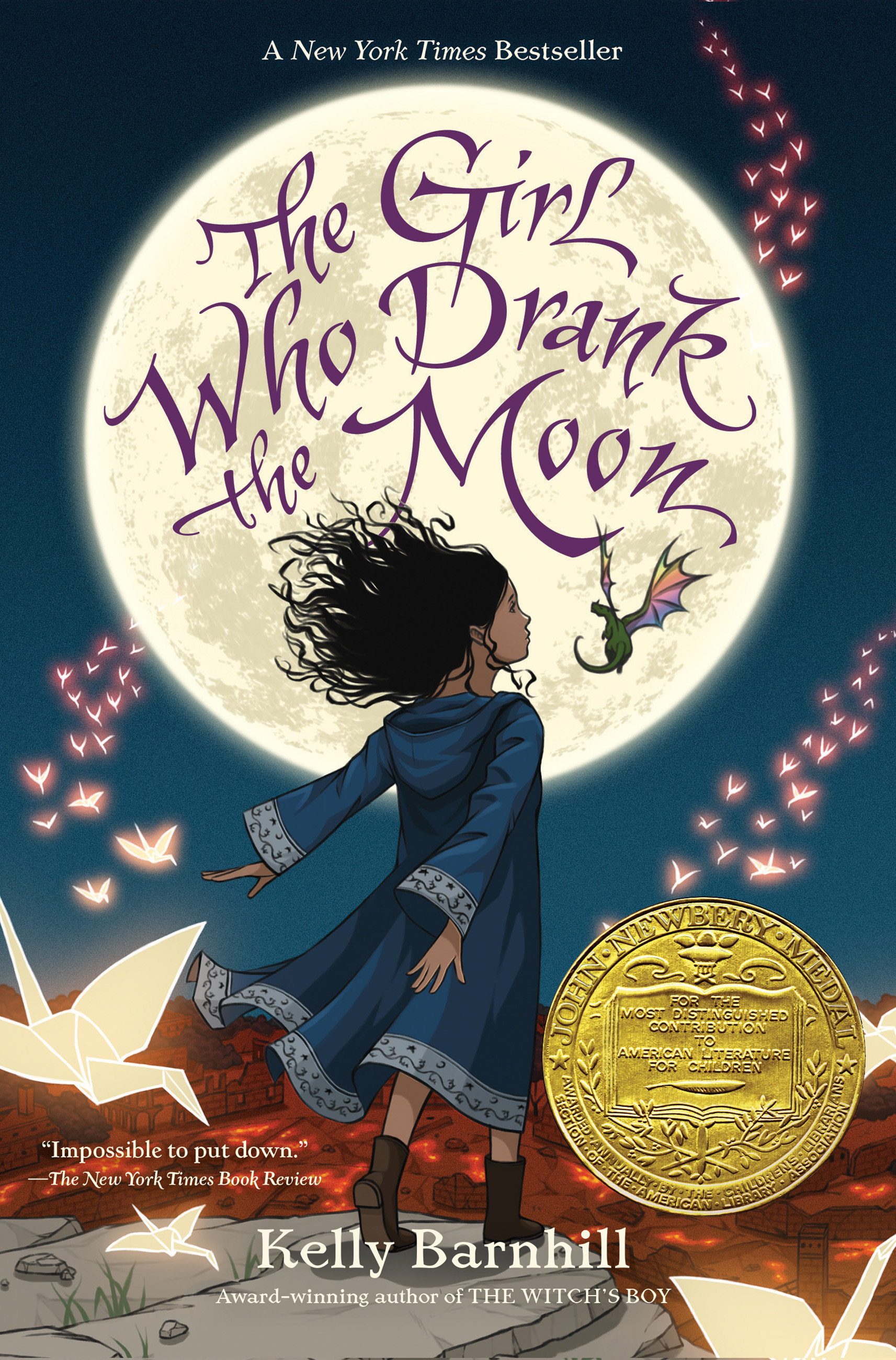Cover image for The Girl Who Drank the Moon (Winner of the 2017 Newbery Medal) [electronic resource] :
