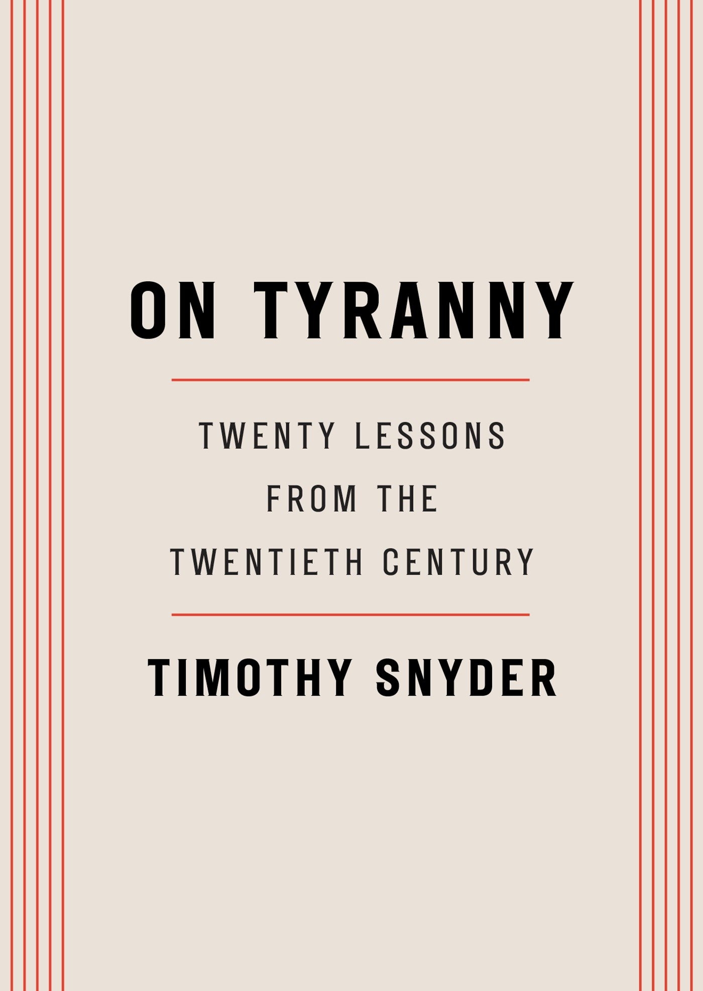 Cover Image of On Tyranny