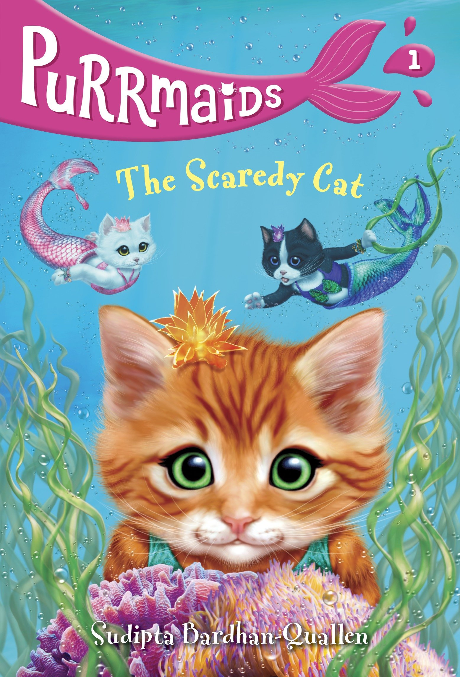 Cover Image of Purrmaids #1: The Scaredy Cat