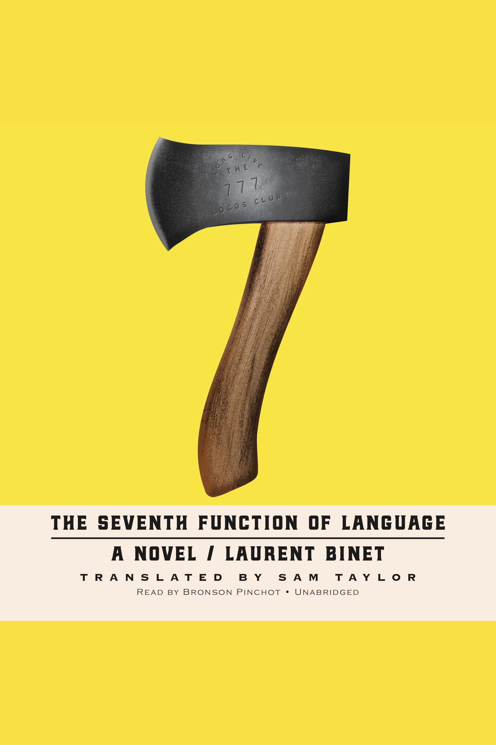 The seventh function of language cover image