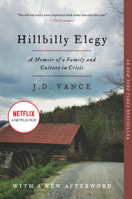 Hillbilly elegy a memoir of a family and culture in crisis cover image
