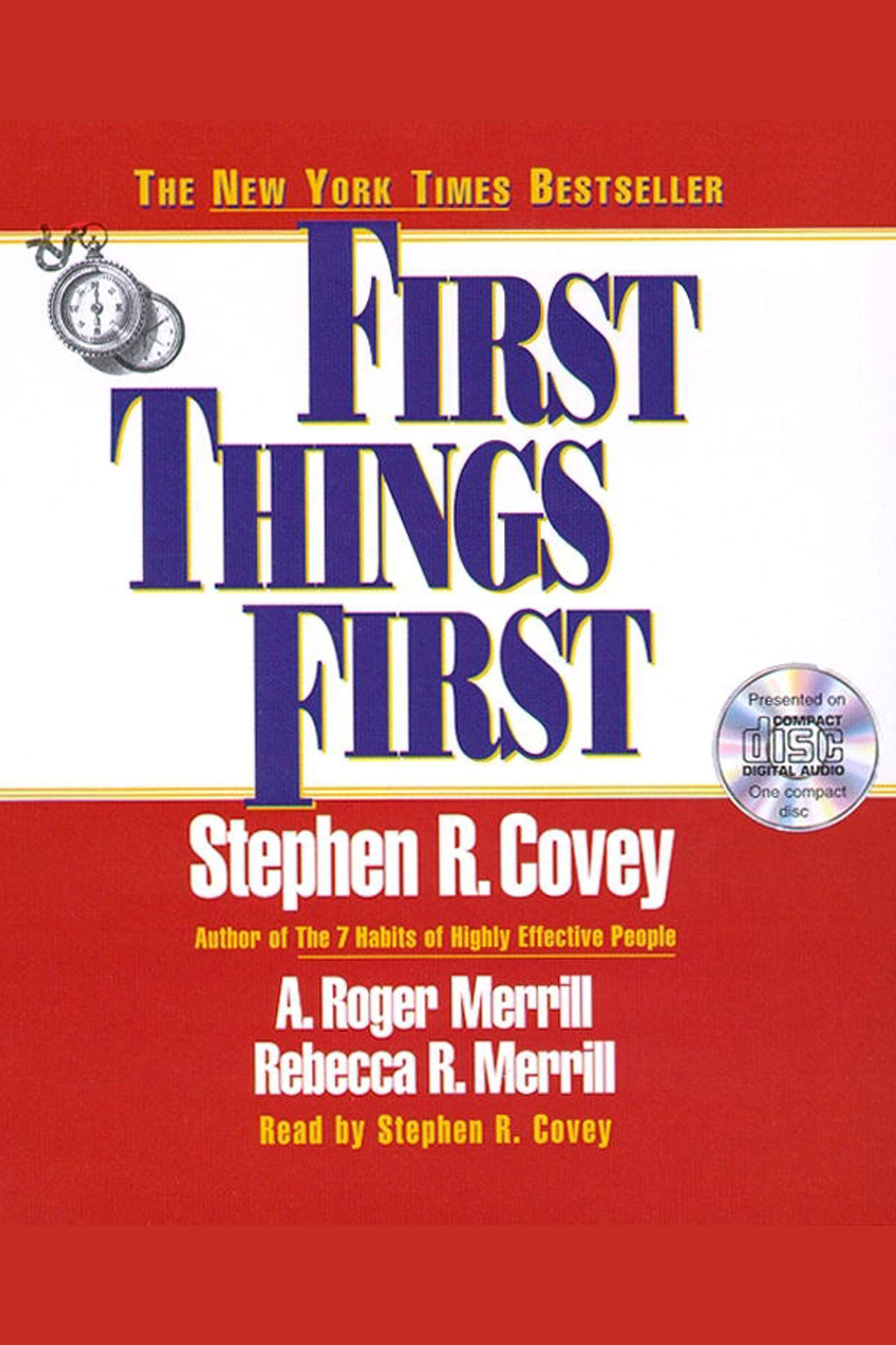 First Things First cover image