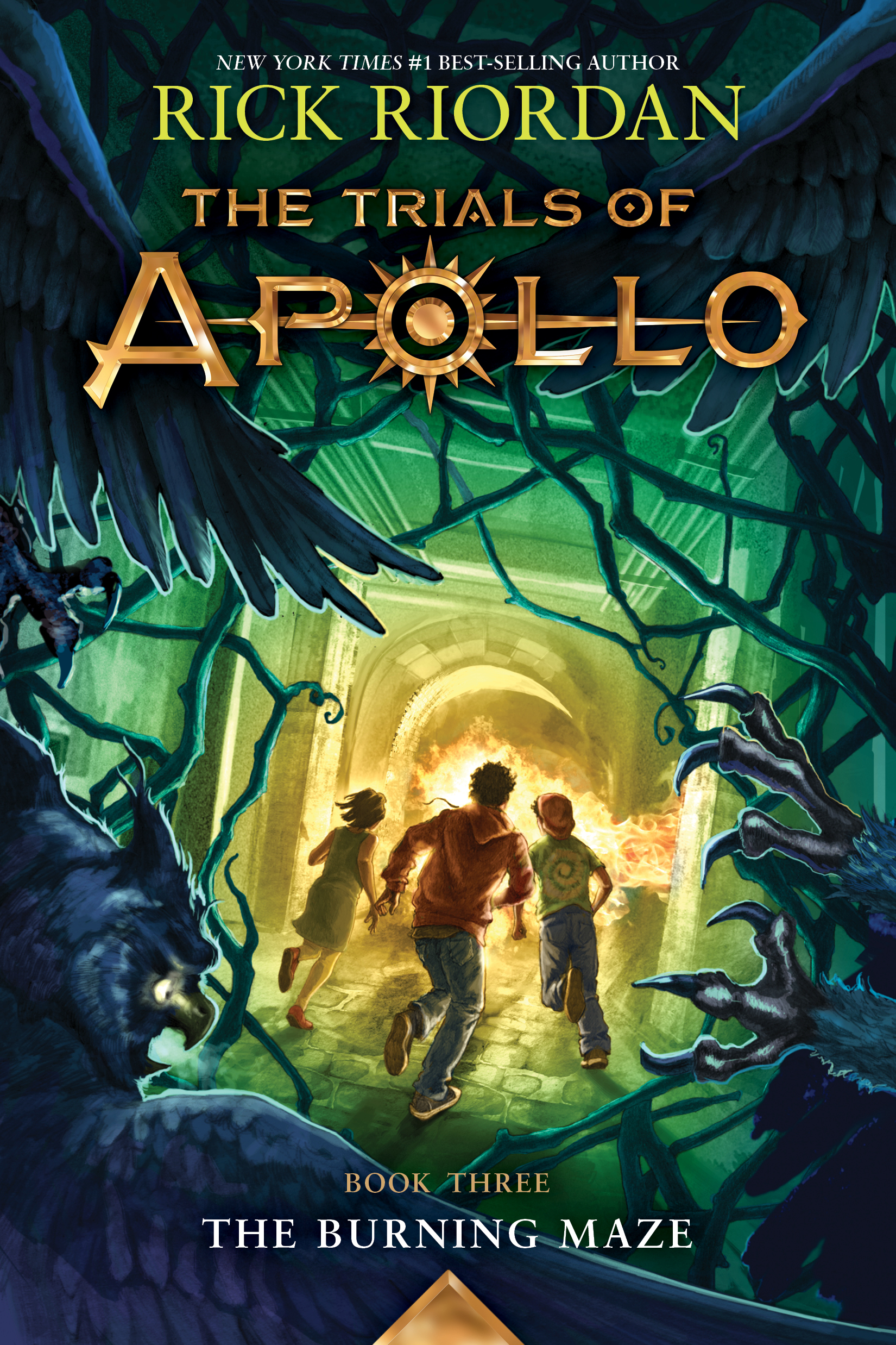 Cover Image of The Trials of Apollo, Book Three:  The Burning Maze