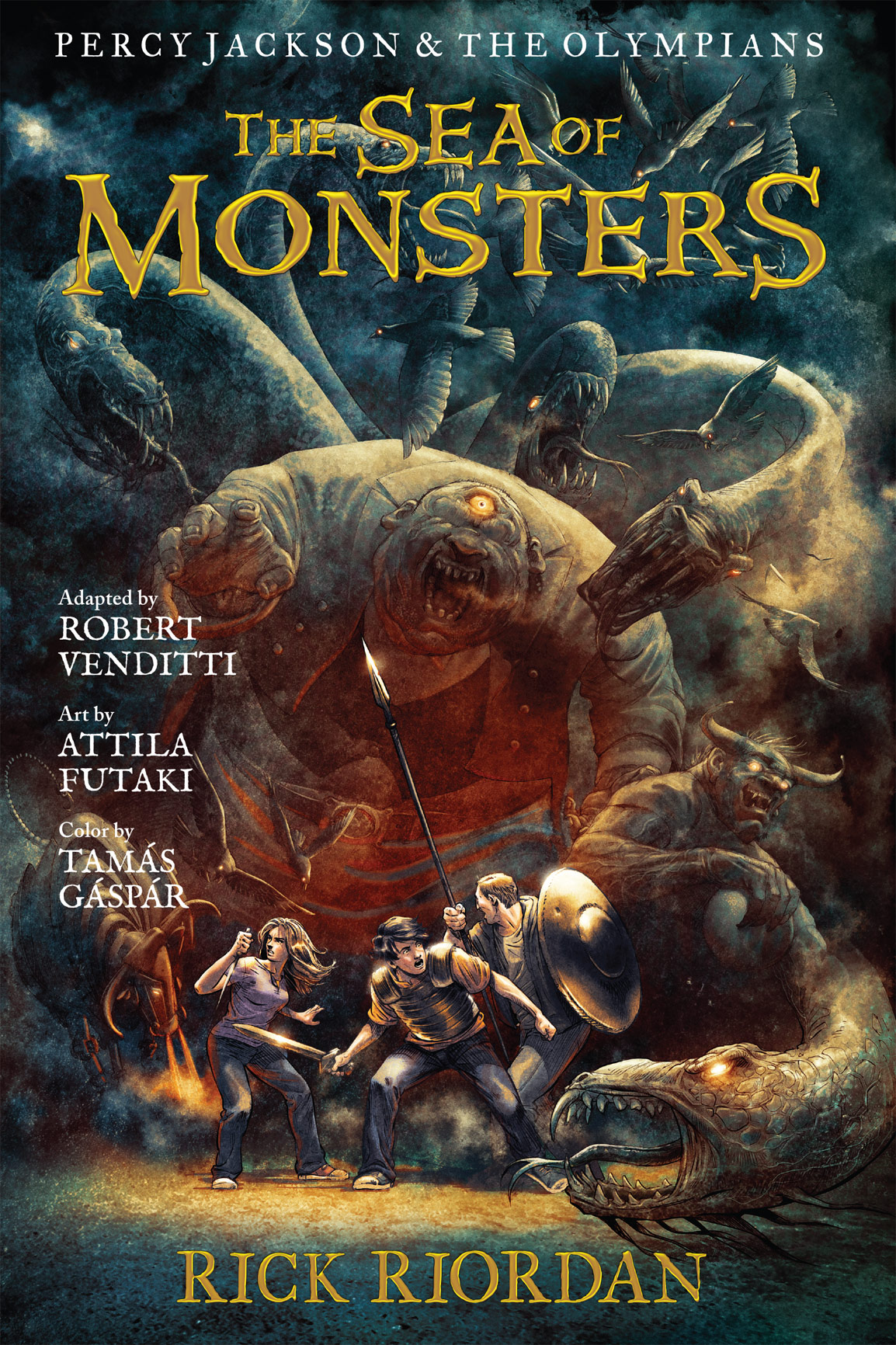 Cover Image of Percy Jackson and the Olympians:  The Sea of Monsters: The Graphic Novel