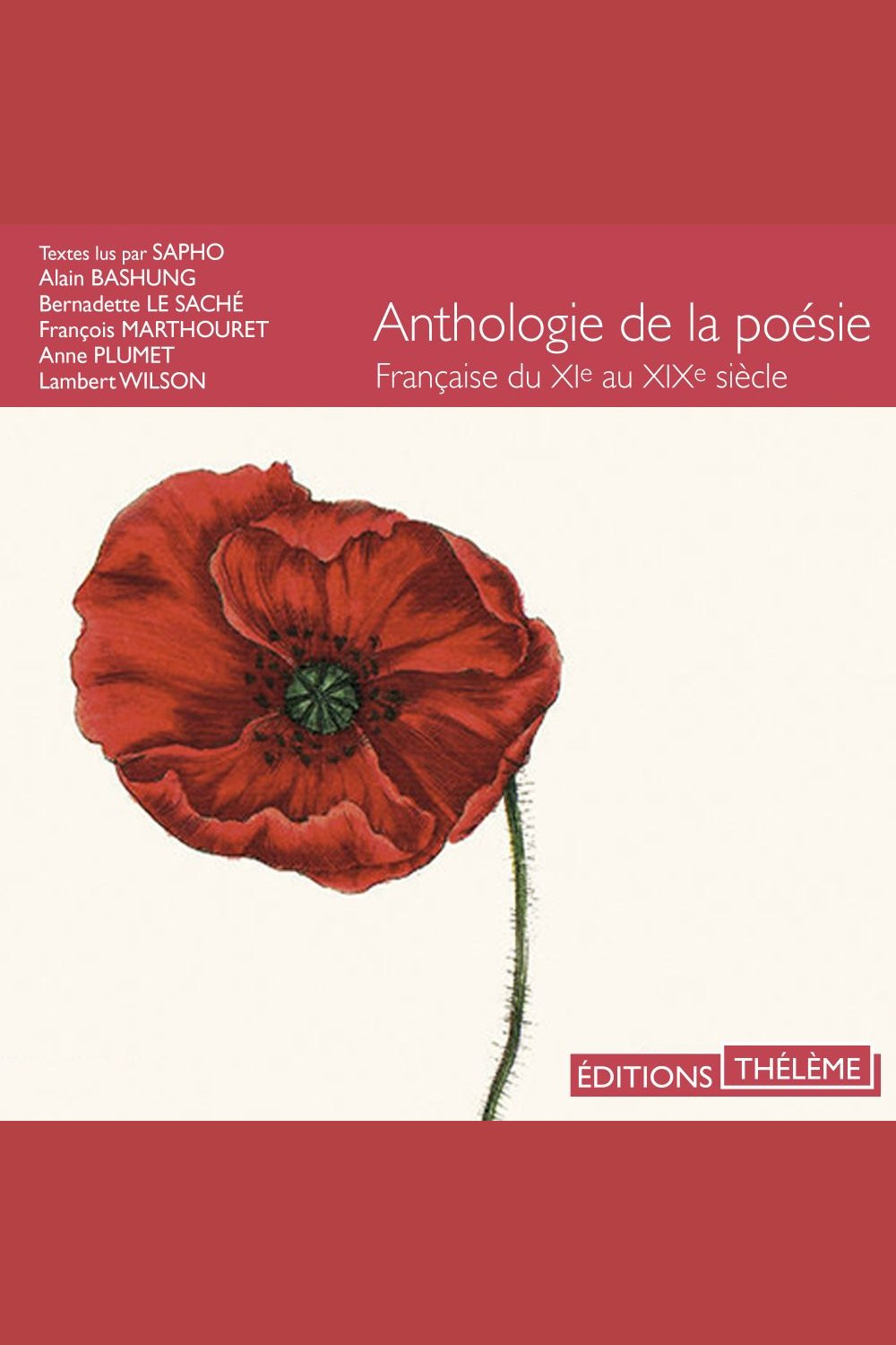 Image: Anthologie de la poésie française du XIème au XIXème siècle