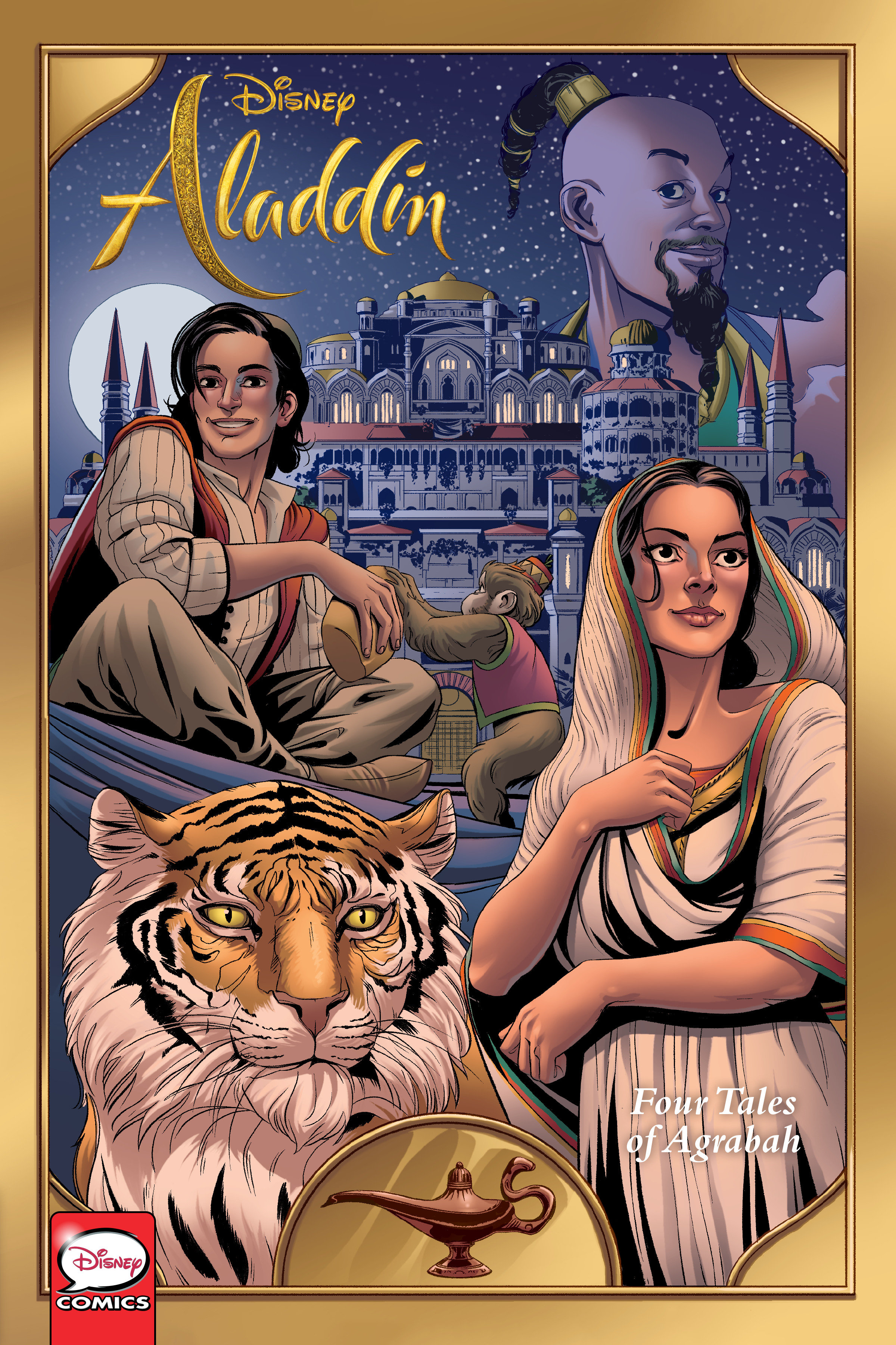 Cover Image of Disney Aladdin: Four Tales of Agrabah (Graphic Novel)