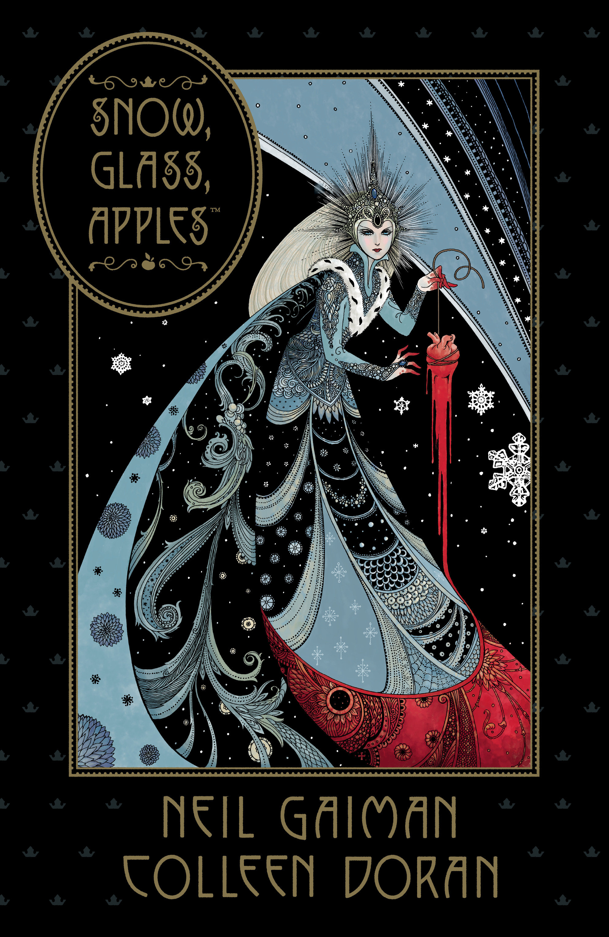 Cover Image of Neil Gaiman's Snow, Glass, Apples