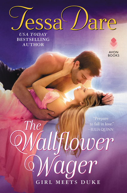 The wallflower wager cover image
