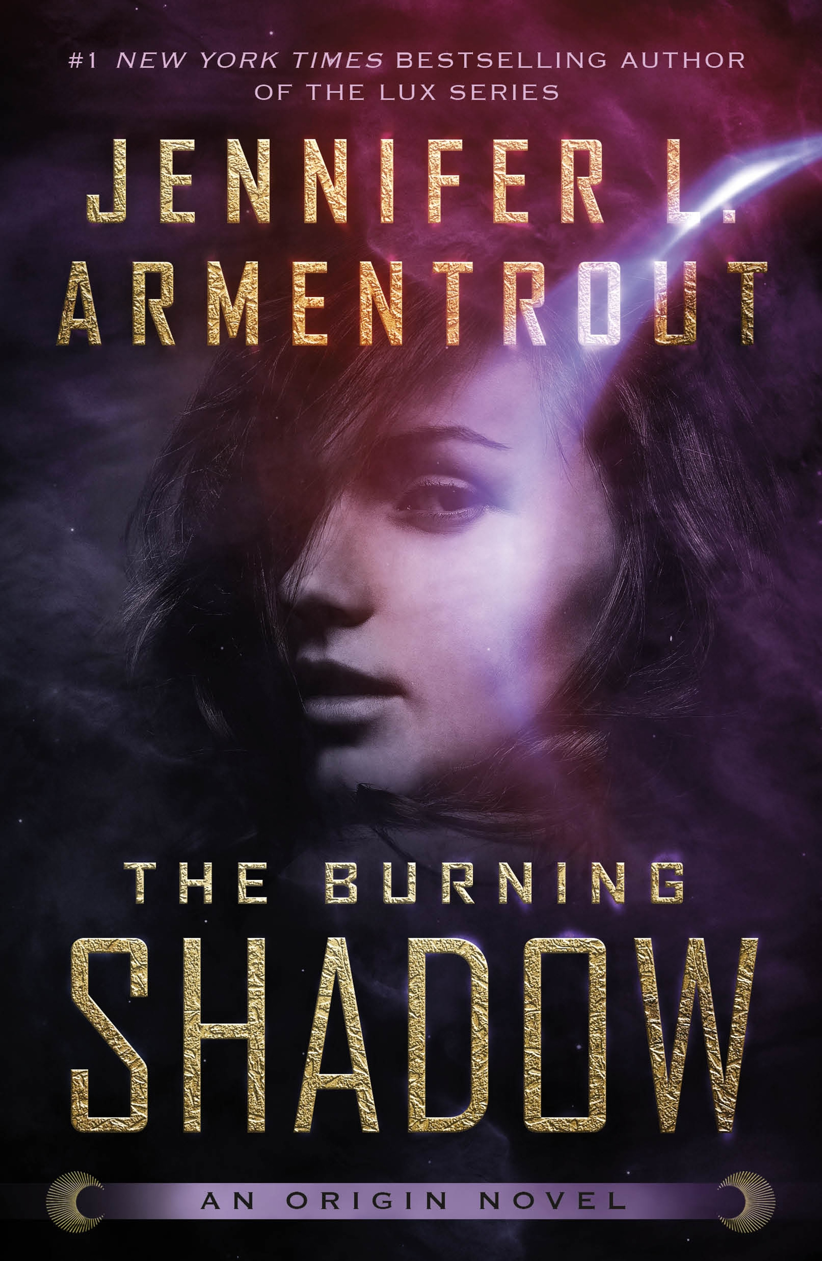 The burning shadow cover image