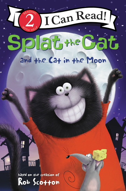 Splat the Cat and the cat in the moon cover image