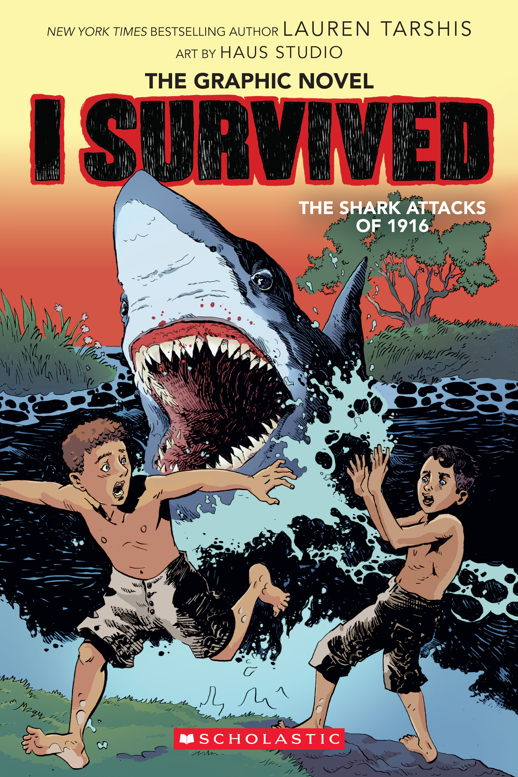 Cover Image of I Survived the Shark Attacks of 1916 (I Survived Graphic Novel #2):  A Graphix Book