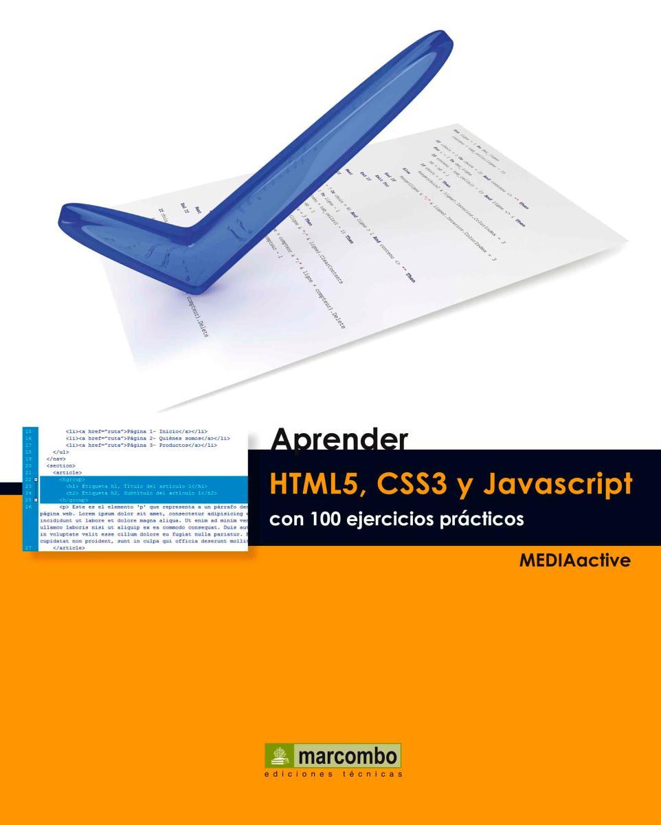 Aprender HTML5, CSS3 y Javascript con 100 ejerecios