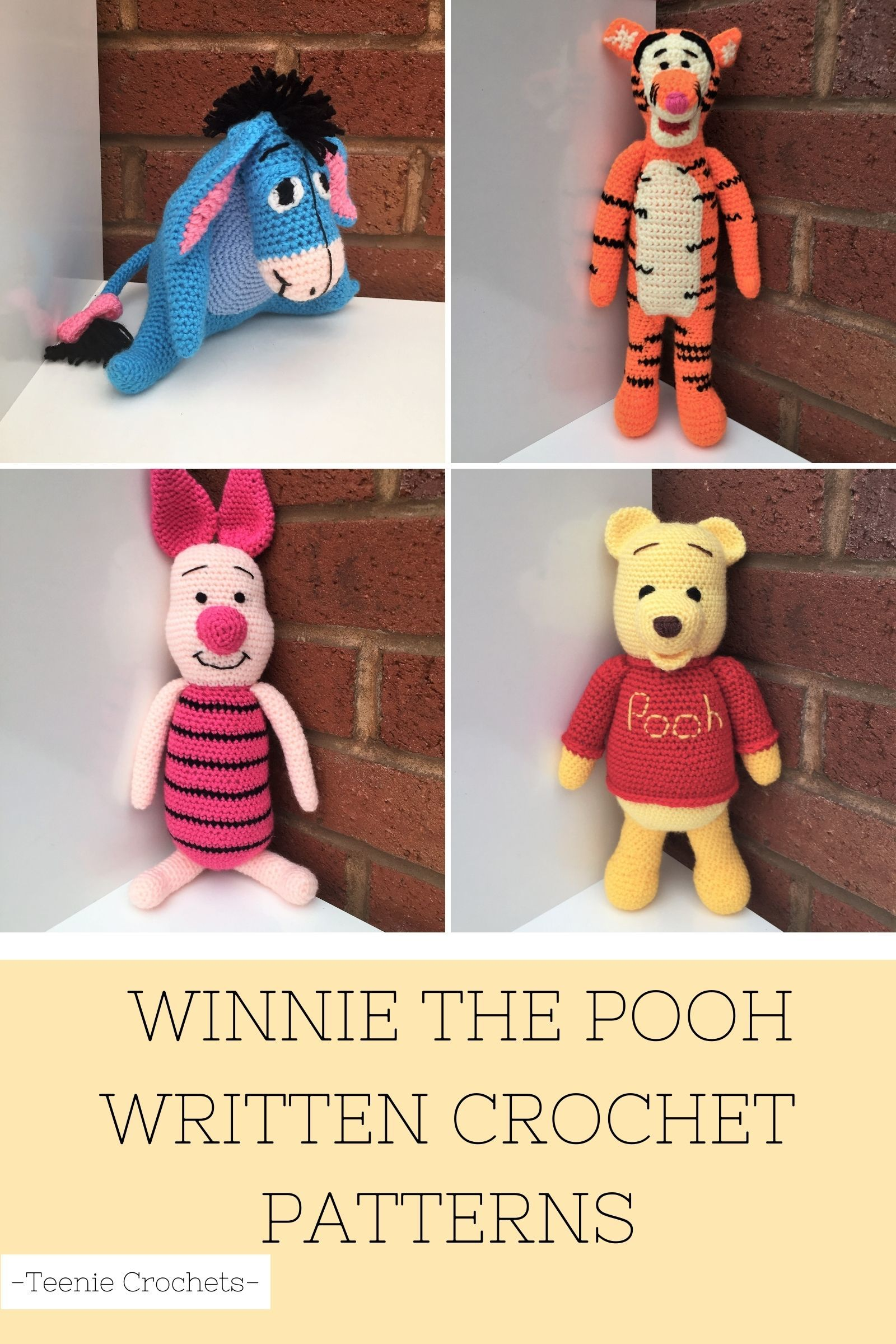 Winnie The Pooh Inspired Crochet Collection (Unofficial)